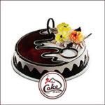 Black forest flower cake