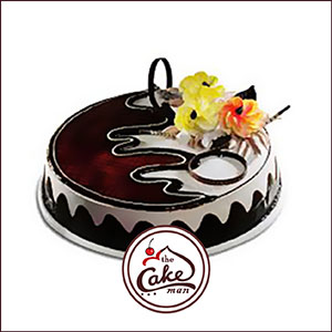 Black forest flower cake