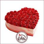 strawberry red fondant rose