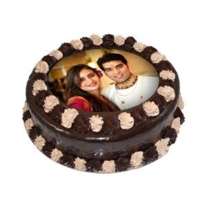 Chocolate Photo Cake.