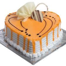 Butter Scotch Heart Shape Cake