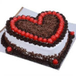 Black Forest Cake Heart Shape