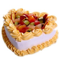 Delight Fruit Heart Shape Cake